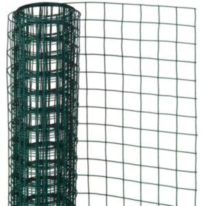 Nature traatvõrk ruut 0,5 x 2,5 m 13 mm plastkattega teras roheline