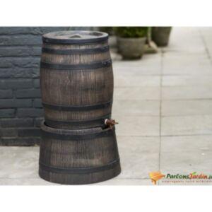 Nature vihmaveepaak puidu välimusega, 120 l, 50,5 x 66 cm, pruun
