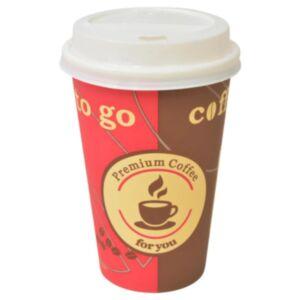 Pood24 ühekordsed kohvitopsid 1000 tk kaantega 355 ml