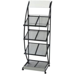 Pood24i ajakirjahoidja 47 x 40 x 134 cm, must ja valge, A4