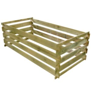 Pood24 laudadest kompostikast immutatud männipuidust 160 x 80 x 58 cm