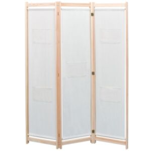 Pood24 3 paneeliga sirm, kreemjas, 120 x 170 x 4 cm, kangas