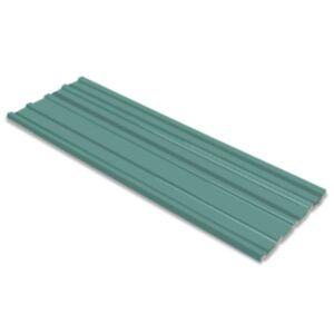 Pood24 katusepaneel 12 tk tsingitud terasest, roheline