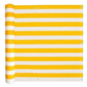 Pood24 rõdusirm HDPE, 90 x 600 cm, kollane ja valge