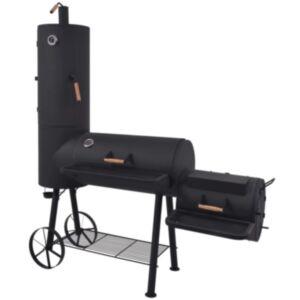 Pood24 suitsugrill alumise riiuliga, must, raske, XXL