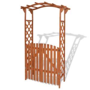 Pood24 väravaga aiakaar täispuidust, 120 x 60 x 205 cm