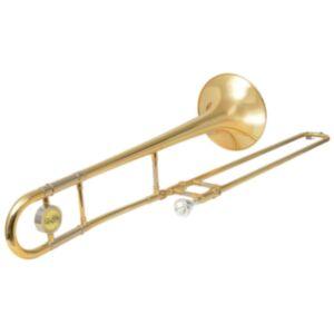Pood24i tromboon kollane messing, kuldlakiga Bb
