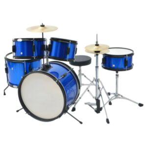 Pood24i trummikomplekt pulbervärvitud terasest, sinine, juunior