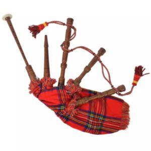 Pood24 laste Šoti torupill, punane, šotiruuduline