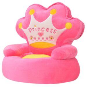 """Pood24i plüüsist lastetool """"Princess"""", roosa"""