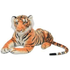 Pood24i pehme mänguasi tiiger, plüüs, pruun XXL