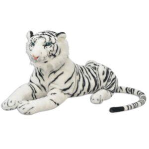 Pood24i pehme mänguasi tiiger, plüüs, valge XXL