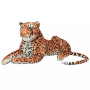 Pood24i pehme mänguasi leopard, plüüs, pruun XXL
