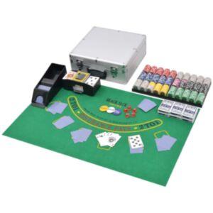 Pood24i 600 laseržetooniga komplekt pokker/blackjack alumiiniumkohvris