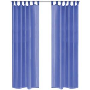 Pood24 vuaalkardinad 2 tk 140 x 175 cm, sügav sinine
