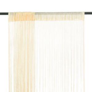 Pood24 nöörkardinad 2 tk, 100 x 250 cm, kreemjasvalge