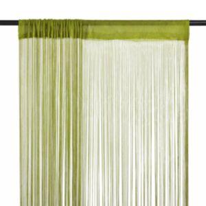 Pood24 nöörkardinad 2 tk, 100 x 250 cm, roheline