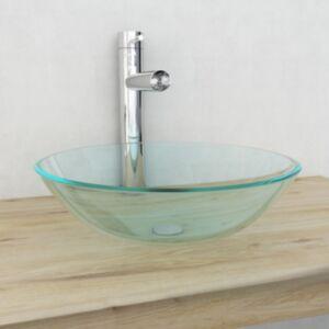 Pood24i valamu karastatud klaasist, 42 cm, läbipaistev