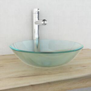 Pood24i karastatud klaasist valamu, 42 cm, matt