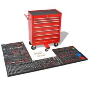 Pood24i töökoja tööriistakäru 1125 tööriistaga, terasest, punane
