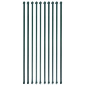 Pood24 aiapostid 10 tk, 1 m, metallist, roheline