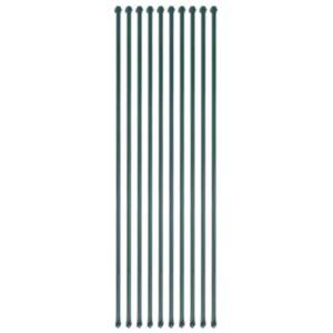 Pood24 aiappostid 10 tk, 1,5 m, metallist, roheline