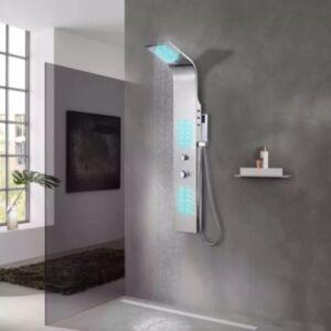 Pood24i dušipaneeli süsteem, roostevaba teras, kumer