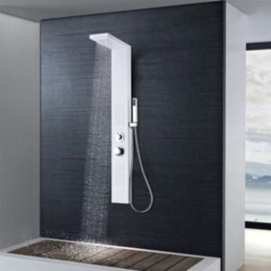 Pood24i dušipaneeli süsteem, alumiinium, matt valge