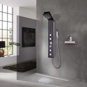 Pood24i dušipaneeli süsteem, klaasist, pruun