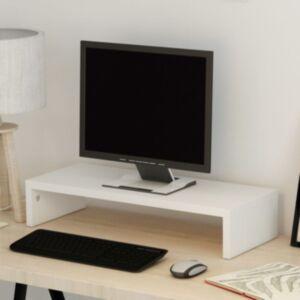 Pood24i monitorialus puitlaastplaat 60 x 23,5 x 12 cm valge