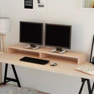 Pood24i monitorialus puitlaastplaat 118 x 23,5 x 9 cm beež