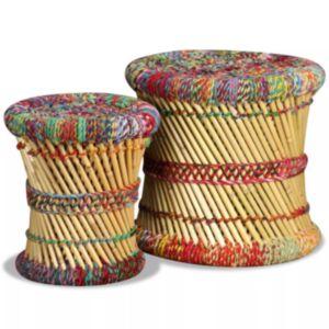 Pood24 toolid Chindi detailidega, 2 tk, mitmevärviline, bambus