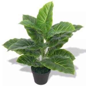Pood24 kunsttaim taro potiga 45 cm roheline