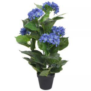 Pood24 kunsttaim hortensia potiga, 60 cm, sinine