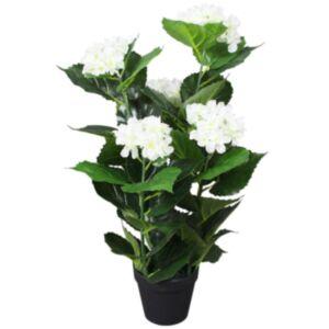 Pood24 kunsttaim hortensia potiga, 60 cm, valge