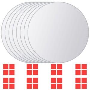 vidaxl 8 tk peegliga plaadid, ümmargused, klaas