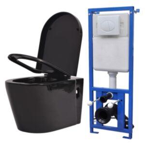 Pood24 seinale kinnituv peidetud loputuskastiga valge WC-pott