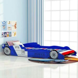 Pood24i võidusõiduauto kujuga lastevoodi 90 x 200 cm sinine