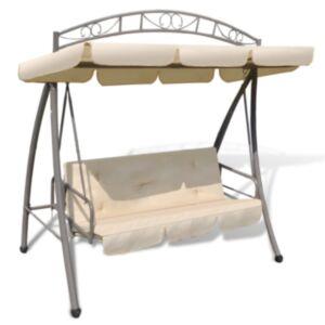 Pood24 aiakiik päikesevarjuga, liivavalge