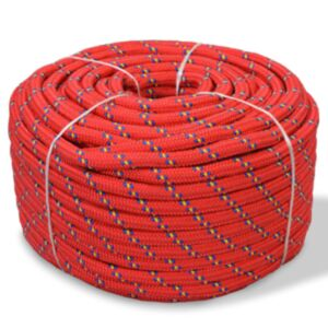 Pood24 paadiköis polürpopüleenist 6 mm, 100 m, punane