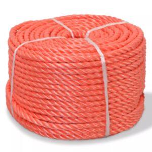 Pood24 punutud paadiköis polürpopüleenist 6 mm, 200 m, oranž