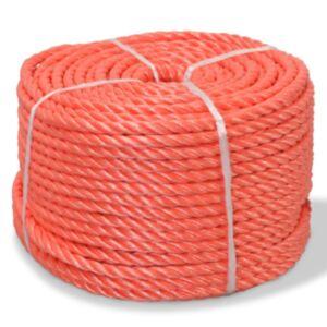 Pood24 punutud paadiköis polürpopüleenist 8 mm, 200 m, oranž