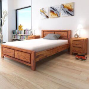 Pood24 voodiraam 180 x 200 cm öökappidega, akaatsiapuit, pruun