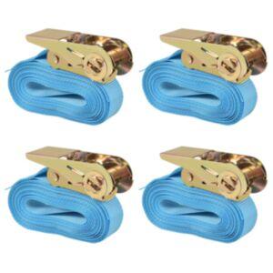 Pood24 pingutitega koormarihmad 4 tk 0,8 tonni 6 m x 25 mm, sinine