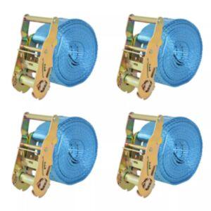 Pood24 pingutitega koormarihmad 4 tk 2 tonni 6 m x 38 mm, sinine