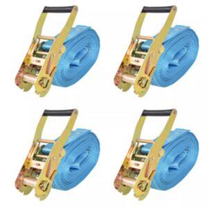 Pood24 pingutitega koormarihmad 4 tk 4 tonni 8 m x 50 mm, sinine