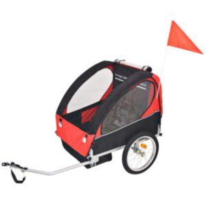 Pood24 laste jalgrattahaagis punane ja must, 30 kg