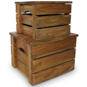 Pood24 hoiukastikomplekt, 2 tk, taastatud puit