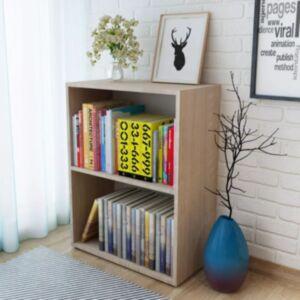 Pood24 raamaturiiul, puitlaastplaat 60 x 31 x 78 cm, tammevärvi
