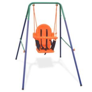 Pood24 väikelapse kiigekomplekt turvarihmaga, oranž